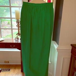 J Crew Kelly Green Maxi Skirt - Size 10 New w/Tags